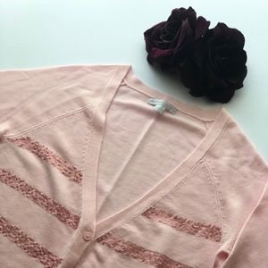 Pink New York and Company Cardigan
